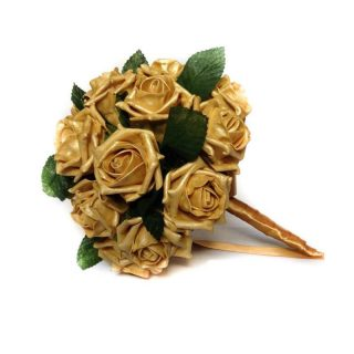 Gold Rush Artificial Brides Bouquet