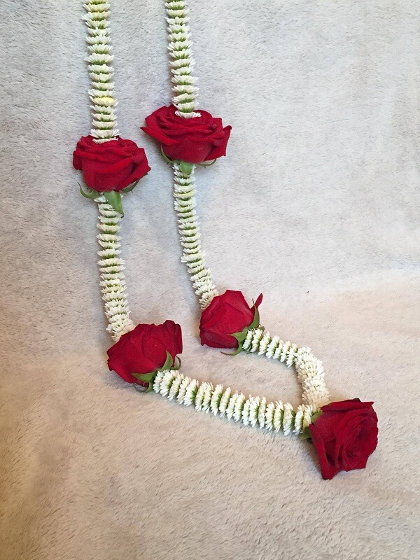 Red Wedding Garland